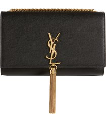 saint laurent medium kate leather wallet on a chain -