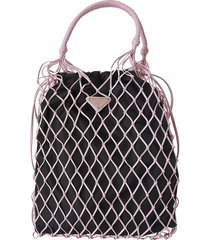 prada net weave bucket bag