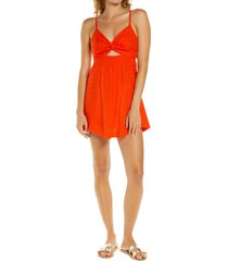women's l space sophia sleeveless cutout dress, size x-small - red