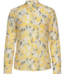 d2. lemon cotton silk shirt långärmad skjorta gul gant