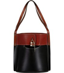 aby leather bucket bag