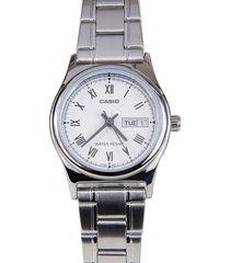 reloj casio casio ltp-v006d-7b plateado para mujer