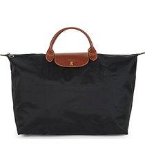 le pliage original leather travel bag