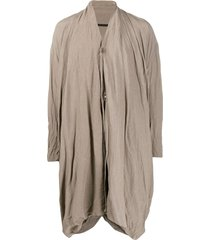 julius button-down crinkle coat - neutrals