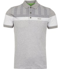 boss green pastel grey piqué polo shirt 50373648