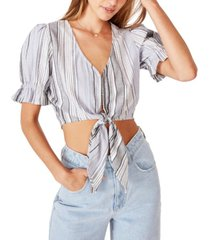cotton on women's tie front blouse