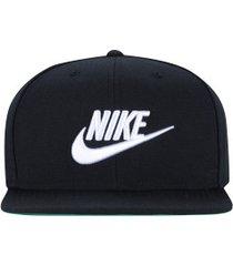 boné aba reta nike sportswear futura pro - snapback - adulto - preto/branco