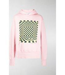 ambush optical illusion-print hoodie
