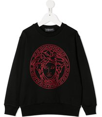 young versace medusa head sweatshirt - black