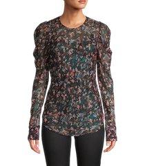 iro women's floral-print top - black - size 36 (4)