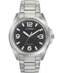 citizen women's eco-drive stainless steel bracelet watch 43mm aw1430-86e