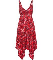 abito midi asimmetrico con lenzing ™ ecovero ™ (rosso) - bodyflirt