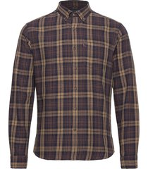 clive checked shirt overhemd casual bruin lexington clothing