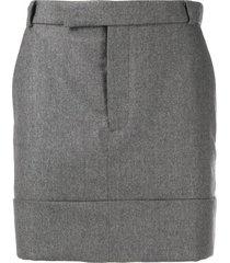 thom browne wool mid-thigh skirt - grey