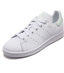 tenis lifestyle blanco-verde adidas originals stan smith w