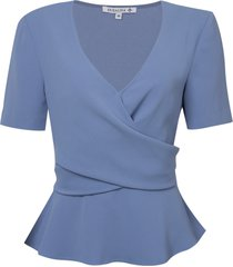 blusa dudalina transpasse feminina (roxo claro / lilac v19, 48)