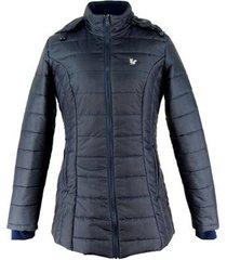 casaco feminino new nebraska thermo mountain longo com forro térmico