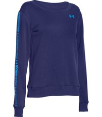sueter under armour cotton fleece branded para mujer - azul marino