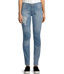 etienne marcel women's distressed skinny jeans - stone - size 25 (2)