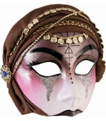 buyseasons women's fortune teller half mask with scarf