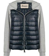herno padded insert hoodie - blue