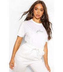 glow micro slogan t-shirt, white