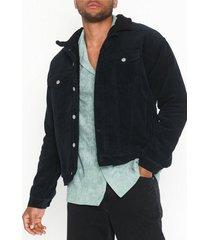 dr denim caleb sherpa jacket jackor svart