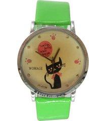 reloj verde sasmon re-20903