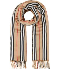 check and icon stripe scarf