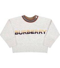 burberry grey sweatshirt for babykids with logo