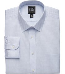 jos. a. bank men's traveler collection slim fit spread collar check dress shirt - big & tall clearance, purple, 17x35