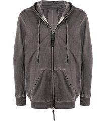 11 by boris bidjan saberi zip-up hoodie - grey