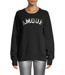 graphic cotton pullover sweatshirt