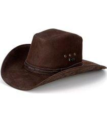 chapéu fourcountry  americano couro marrom liso - kanui