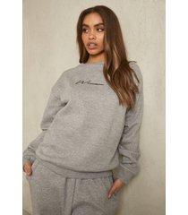 gerecyclede woman sweater, grey marl