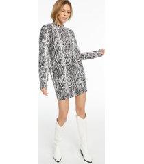 culpos x inc long-sleeve snake-print mini dress, created for macy's