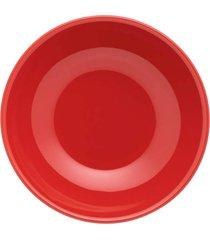 conjunto de 6 pratos fundos 20,5cm unni red - multicolorido - dafiti