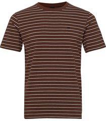 classic cotton-elastane crewneck tee t-shirts short-sleeved brun scotch & soda