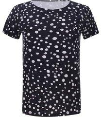 camiseta puntos color azul, talla l
