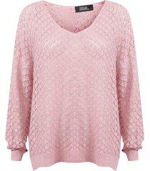 sweater nrg rosa - calce holgado