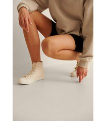 na-kd shoes träningsskor med hög snörning - offwhite