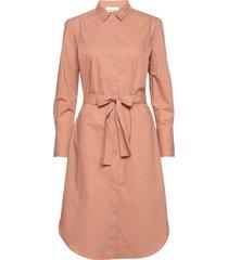 larkin ls midi shirt dress knälång klänning rosa second female