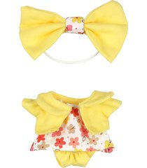 vestido flores saco amarillo atole distroller 970206 amarillo