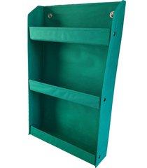 revisteiro organibox prateleira verde bandeira - tricae