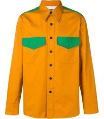 calvin klein 205w39nyc western colour block shirt - yellow