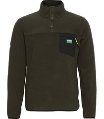 b trail polar fleece pop over sweat-shirts & hoodies fleeces & midlayers grön superdry