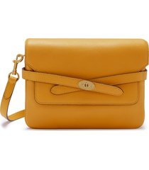 mulberry bayswater belted leather shoulder bag - yellow