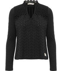 of a kind top blouse lange mouwen zwart odd molly