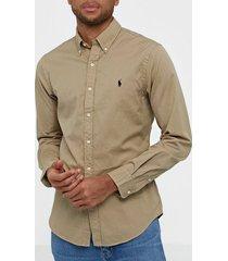 polo ralph lauren long sleeve sport shirt skjortor tan