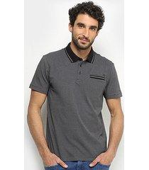 camisa polo forum bolso masculina